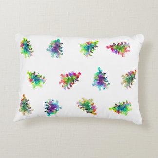 Abstract christmas tree pillow. decorative cushion