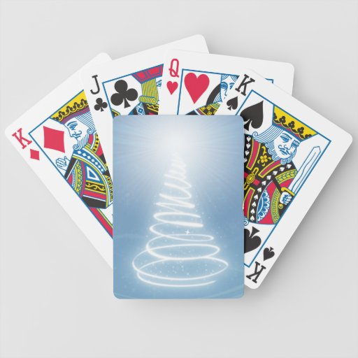 Abstract Christmas Tree Playing Cards