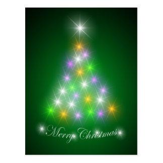 Abstract Christmas tree Postcard
