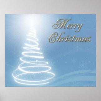 Abstract Christmas Tree Print