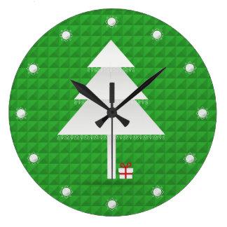 Abstract Christmas Tree Wall Clock