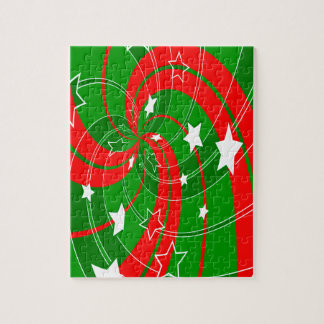 abstract christmas xmas pattern jigsaw puzzle