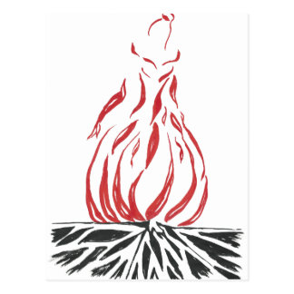 Abstract Cinderella Phoenix Postcard