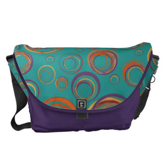 Abstract Circle Doodle Design Messenger Bags