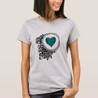Abstract Circle Heart Art Tee Shirt