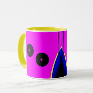 Abstract Circle Mechanical Mug motif