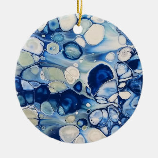 "Abstract Circle Ornament ""Tranquil 2"""