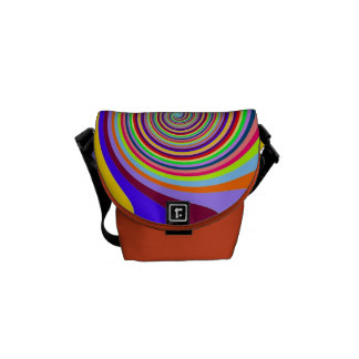 Abstract Circle Pattern In Multi Colors Messenger Bag