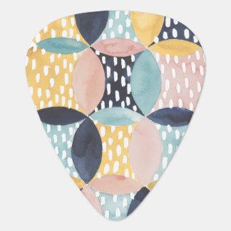 Abstract Circle Pattern Plectrum