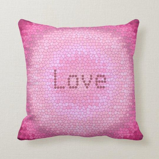 Abstract circle vitrage pink texture. throw pillow