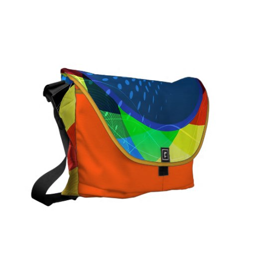 Abstract Circles and Spheres Vector Graphic Courier Bags