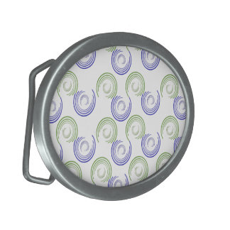 Abstract Circles Oval Belt Buckles