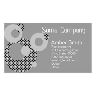 Abstract Circles Black And White Business Card