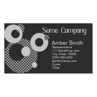 Abstract Circles Black And White Business Cards