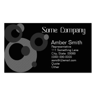 Abstract Circles Black And White Business Card Template