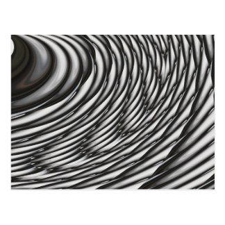 Abstract Circles - Contemporary Modern Art Postcard