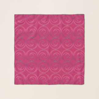 Abstract circles geometric pattern scarf