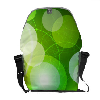 Abstract Circles in Green Vector Art Commuter Bags
