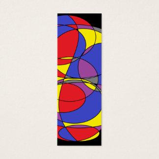 Abstract Circles Mini Business Card
