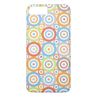 Abstract Circles Pattern Color Mix & Greys iPhone 7 Plus Case