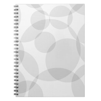 Abstract Circles Spiral Notebooks