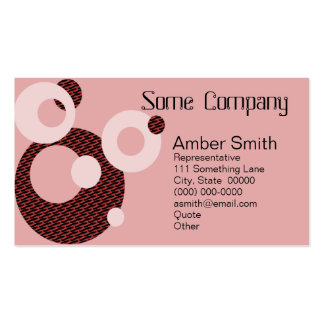 Abstract Circles (Strawberries) Business Card Templates