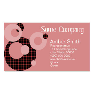 Abstract Circles (Strawberries) Business Card