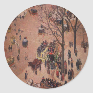 Abstract City City Fair Busy Day Classic Round Sticker