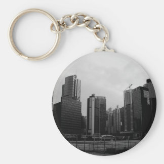 Abstract City Deserted City Key Chains