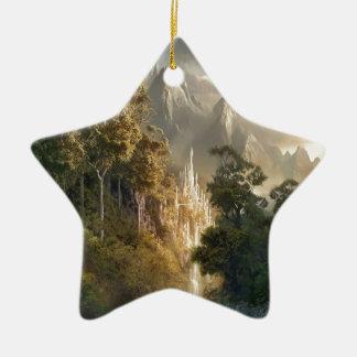Abstract City Kingdom Light Christmas Tree Ornament