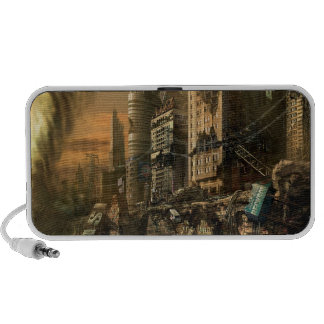 Abstract City Left Ruins Portable Speaker