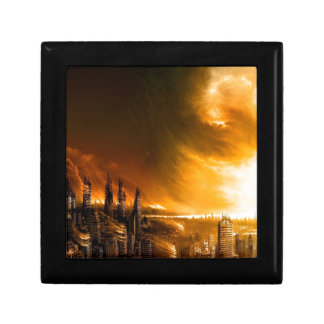 Abstract City New Dawn Trinket Boxes