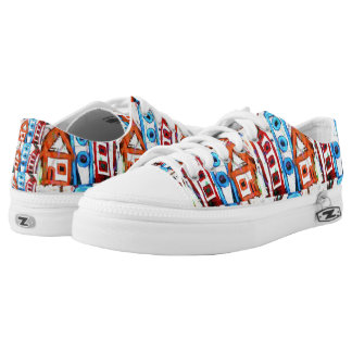 abstract city printed shoes