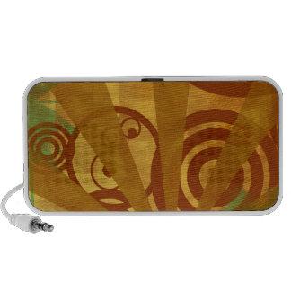 Abstract City Retro Bright Alive Travel Speaker