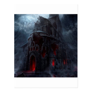 Abstract City Vampire Mill Postcard