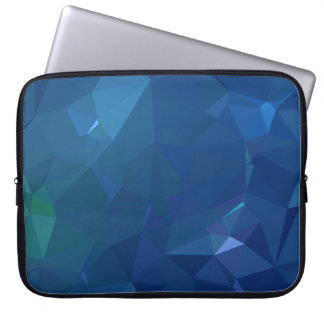 Abstract & Clean Geo Designs - Bluejay Crystal Laptop Sleeve