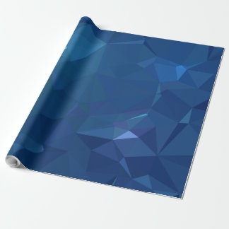 Abstract & Clean Geo Designs - Bluejay Crystal Wrapping Paper