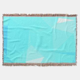 Abstract & Clean Geo Designs - Snowflake Topaz Throw Blanket