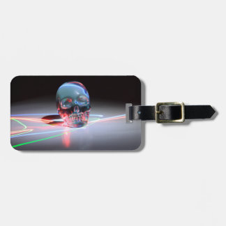 Abstract Clear Skull Luggage Tag