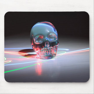 Abstract Clear Skull Mouse Pad