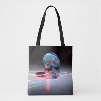 Abstract Clear Skull Tote Bag
