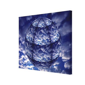 Abstract cloud 3D sphere Canvas Print