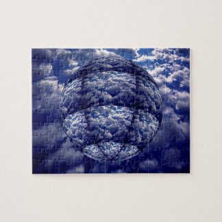 Abstract cloud 3D sphere Jigsaw Puzzle