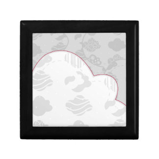 Abstract Clouds Monochrome Gray Design Gift Box