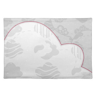 Abstract Clouds Monochrome Gray Design Placemat