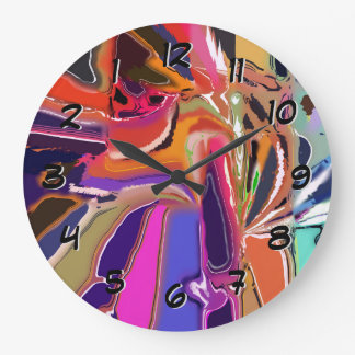 Abstract Clown Abstract Large Clock