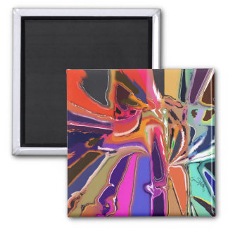 Abstract Clown Abstract Magnet