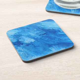"Abstract Coastal Hard Plastic Coasters ""Billow"""