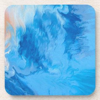 "Abstract Coastal Hard Plastic Coasters ""Dreamland"""