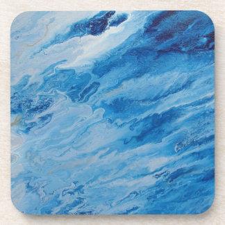 "Abstract Coastal Hard Plastic Coasters ""Foam"""